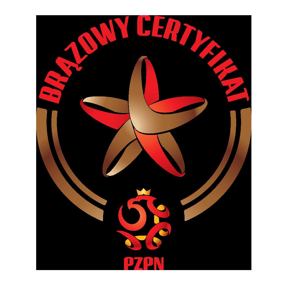 Certyfikat - logotyp brązowy